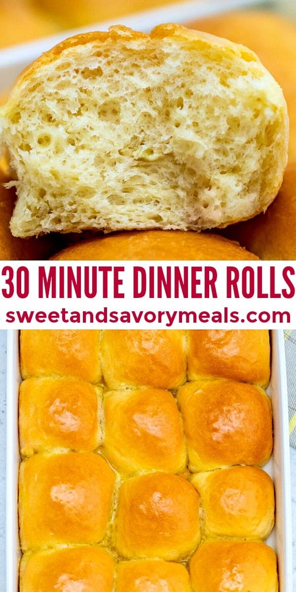 easy 30 minutes dinner rolls pin