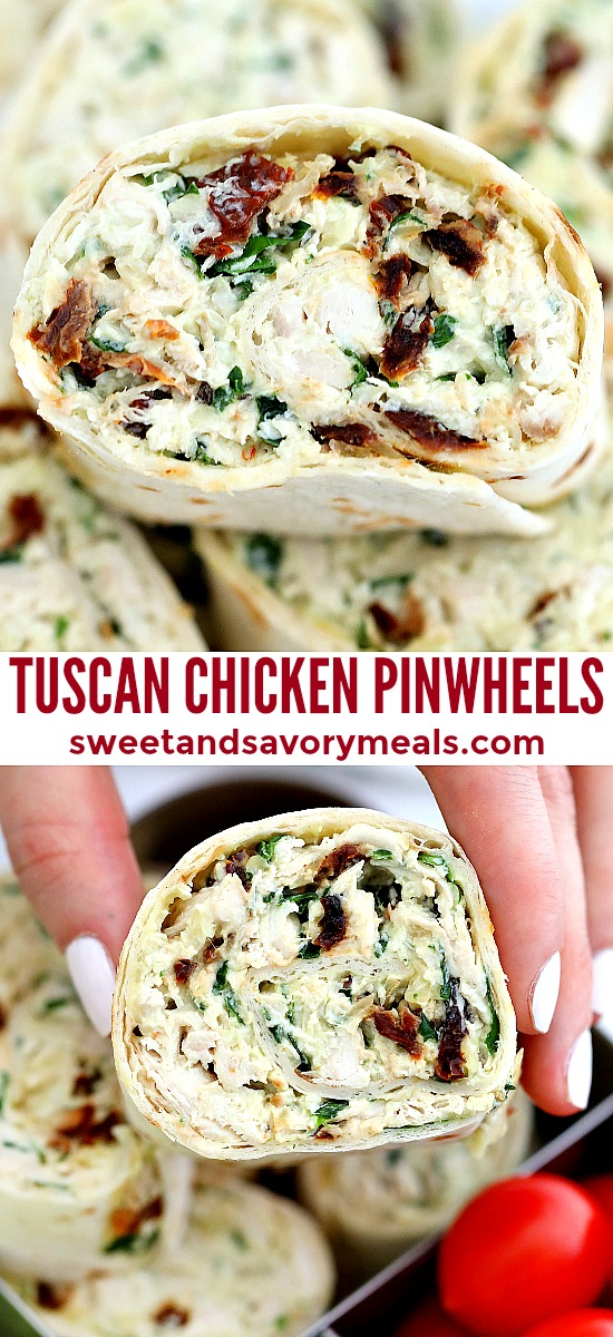 Tuscan Chicken Pinwheels