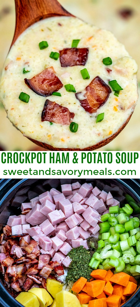 Picture of homemade ham and potato soup.