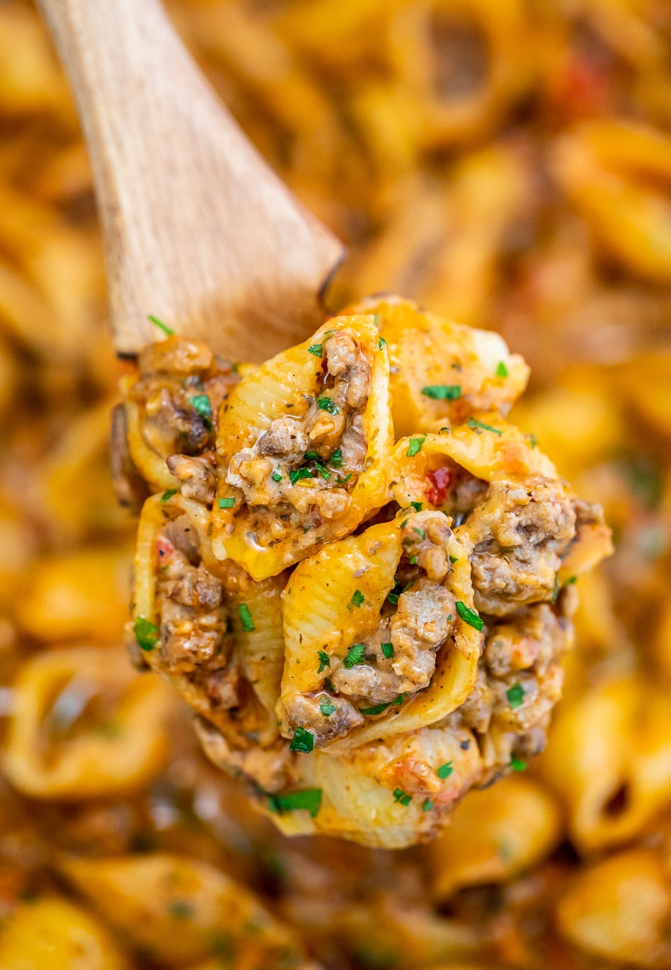 Creamy Beef And Shells Video Sweet And Savory Meals
