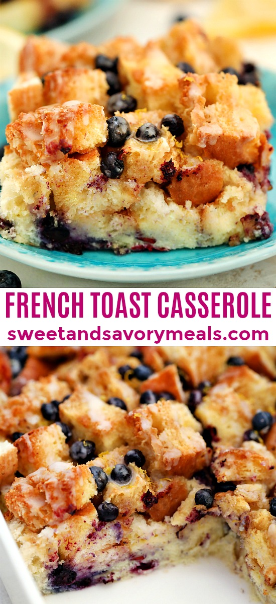 Check out blueberry french toast casserole