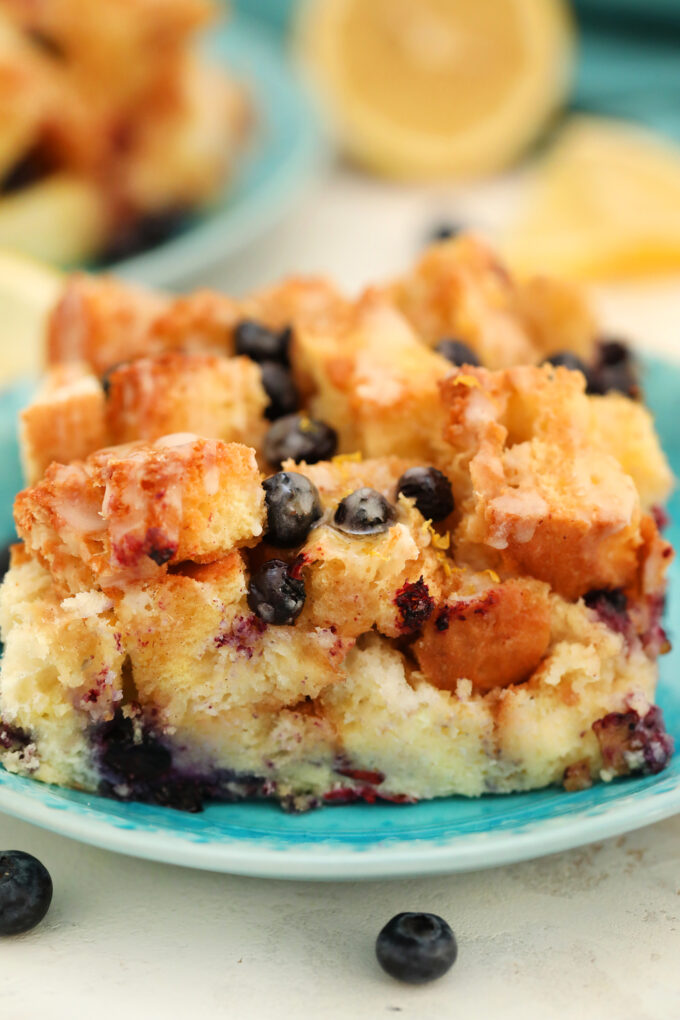 Tasty blueberry french toast casserole cream cheese