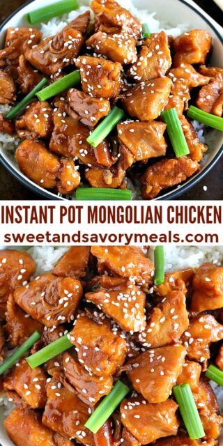 Easy Instant Pot Mongolian Chicken pin