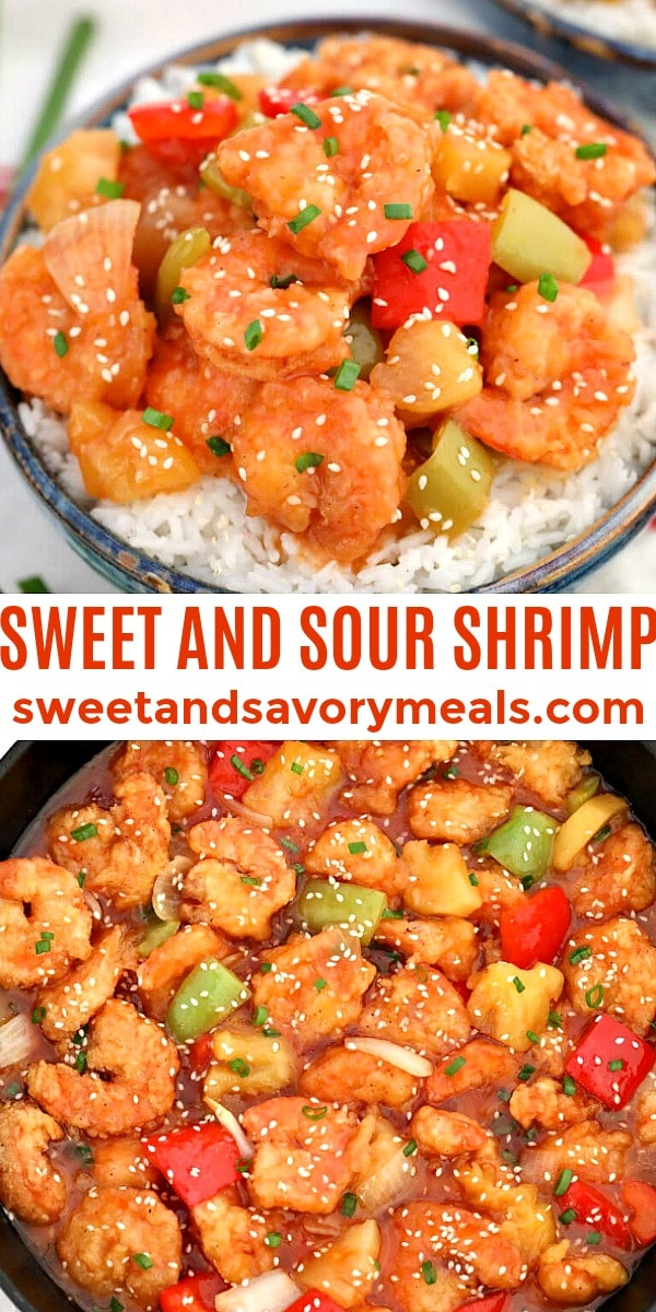 Easy Sweet and Sour Shrimp pin