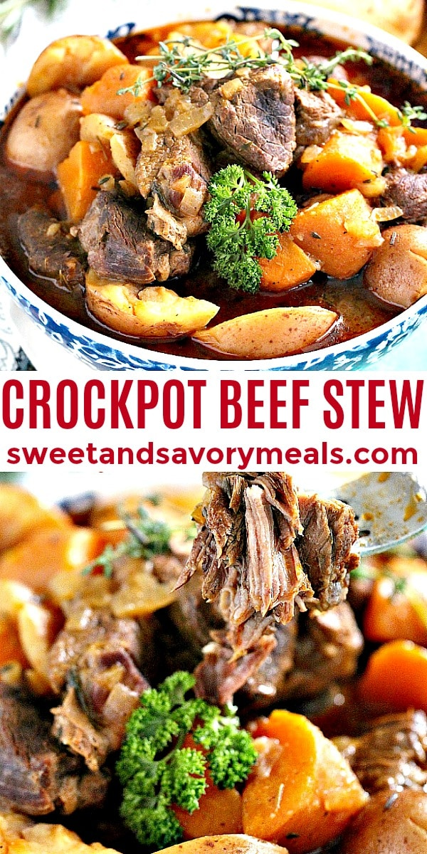 easy crockpot beef stew pin