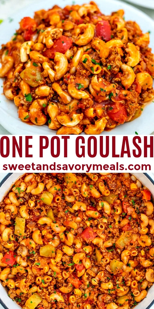 Easy One Pot Goulash pin