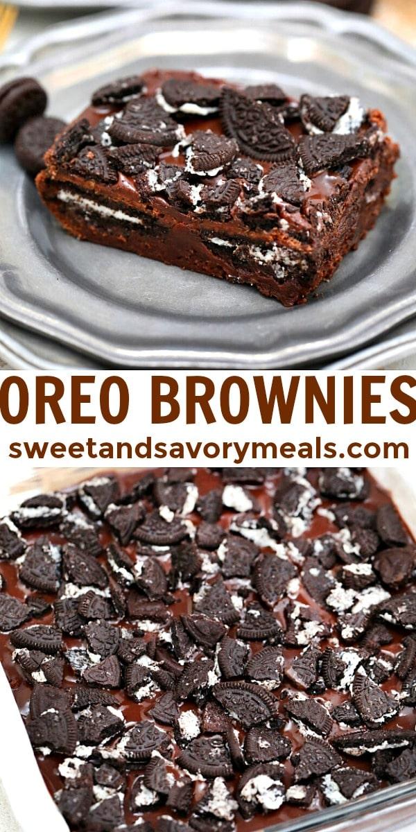 Easy Oreo Brownies pin