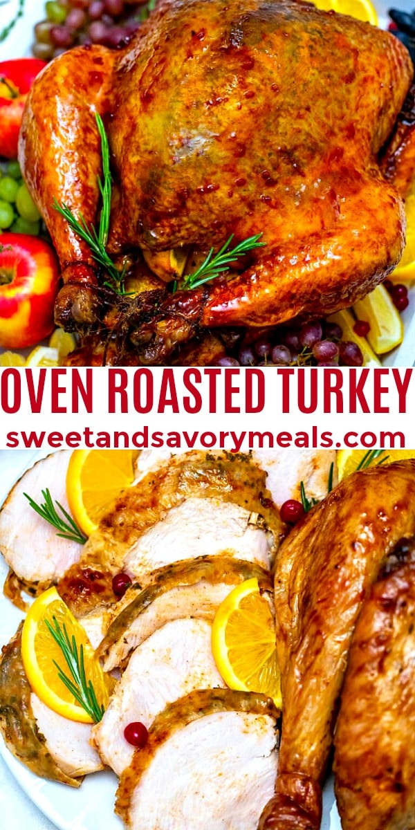 easy oven roasted turkey pin