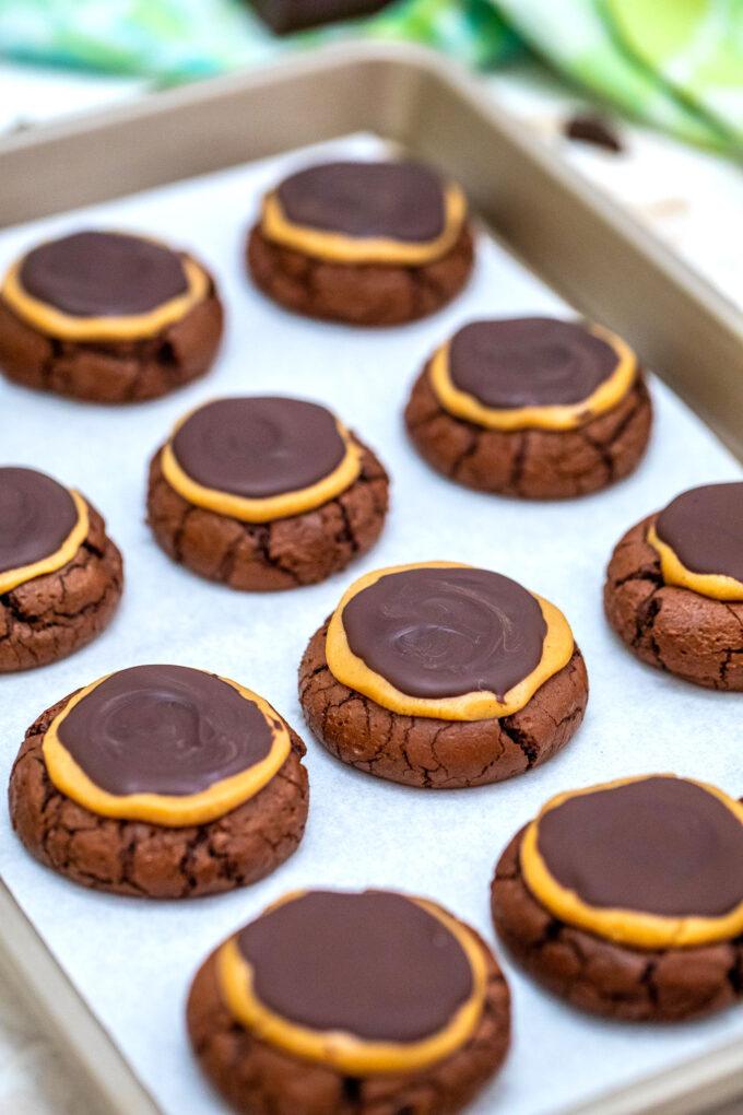Brownie Buckeye Cookies