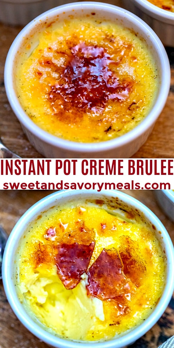 easy instant pot creme brulee pin