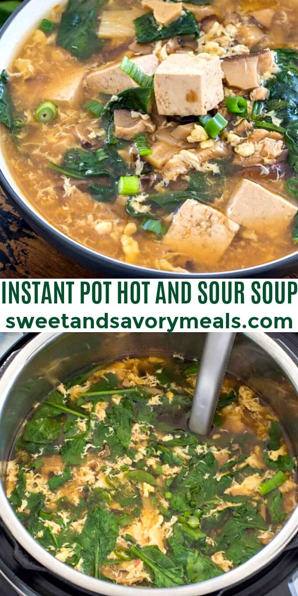 easy instant pot hot and sour soup pin