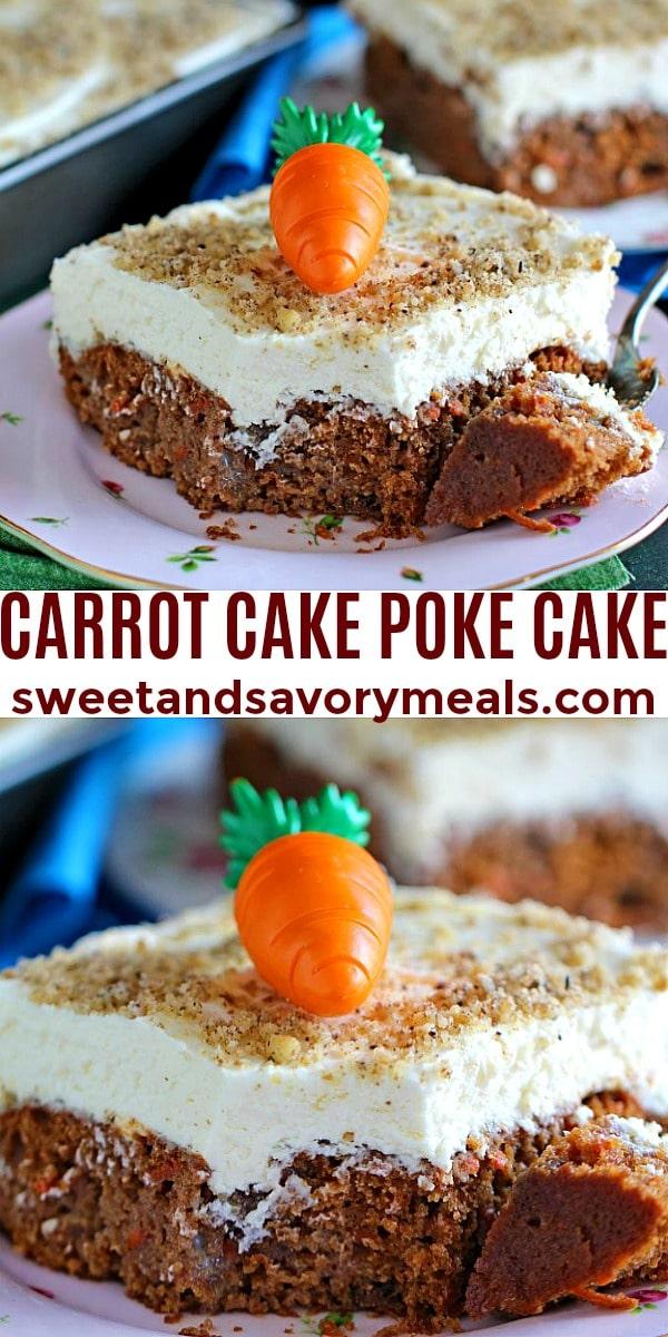easy carrot cake poke cake pin