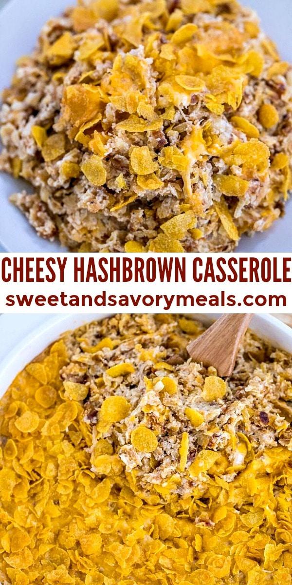 easy cheesy hashbrown casserole pin