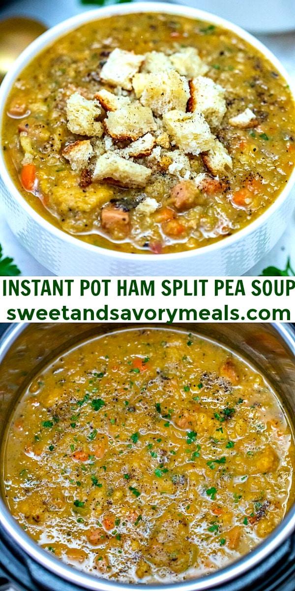 easy instant pot ham split pea soup