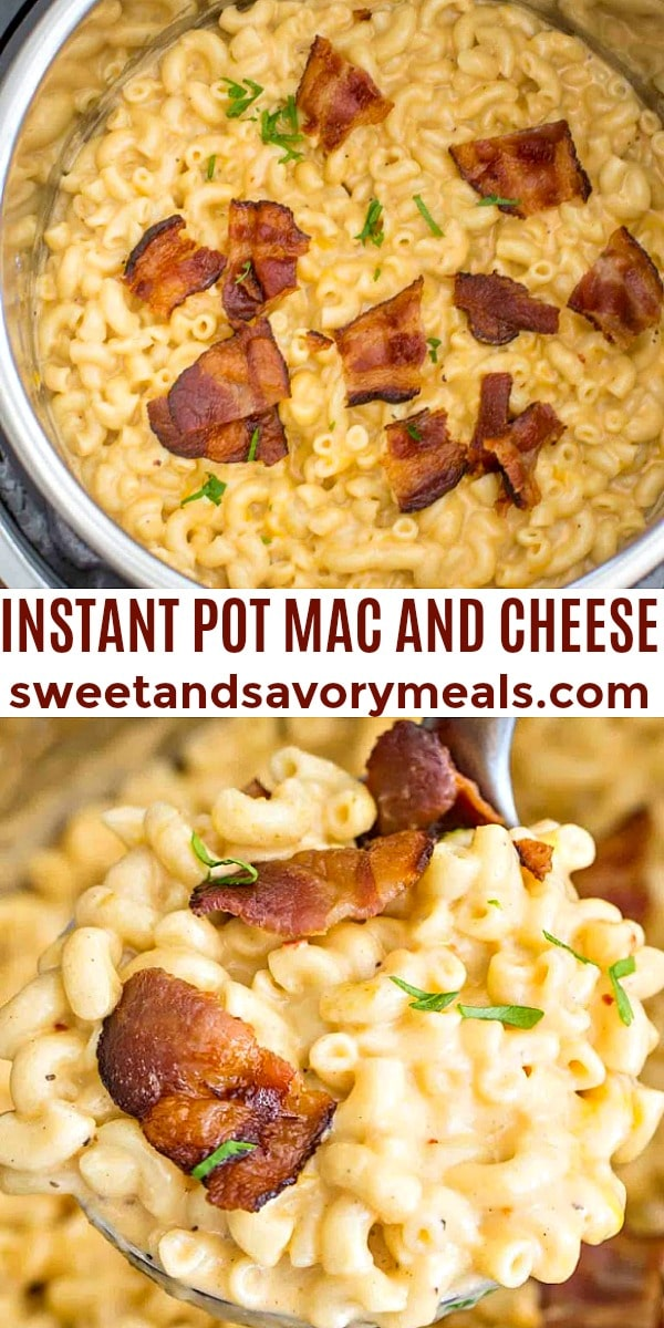easy instant pot mac and cheese pin