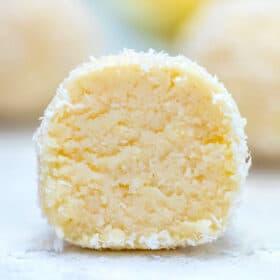 Keto Lemon Coconut Cheesecake Fat Bombs