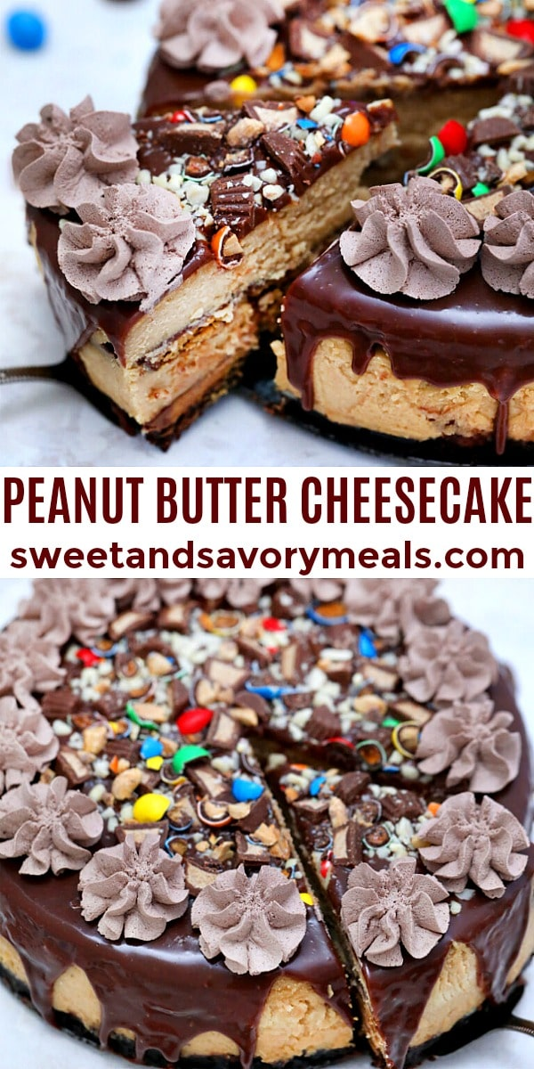 easy peanut butter cheesecake pin