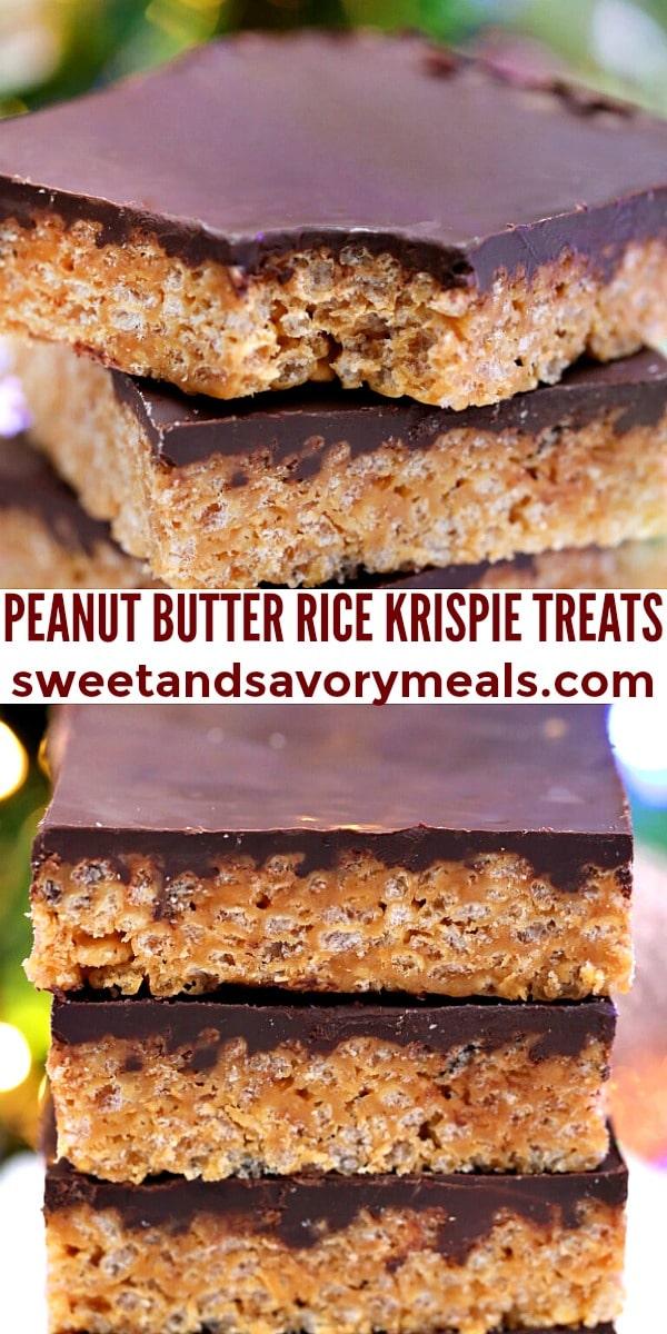 easy peanut butter rice krispie treats pin