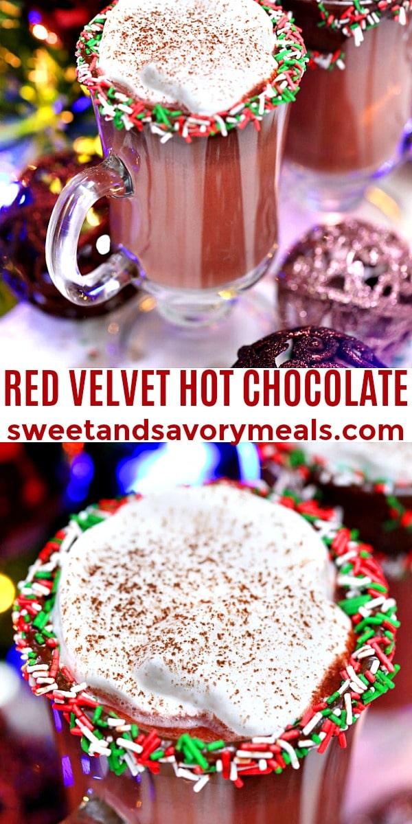 easy red velvet hot chocolate pin