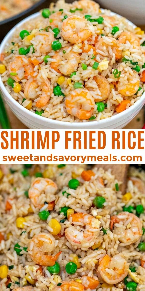 easy shrimp fried rice pin