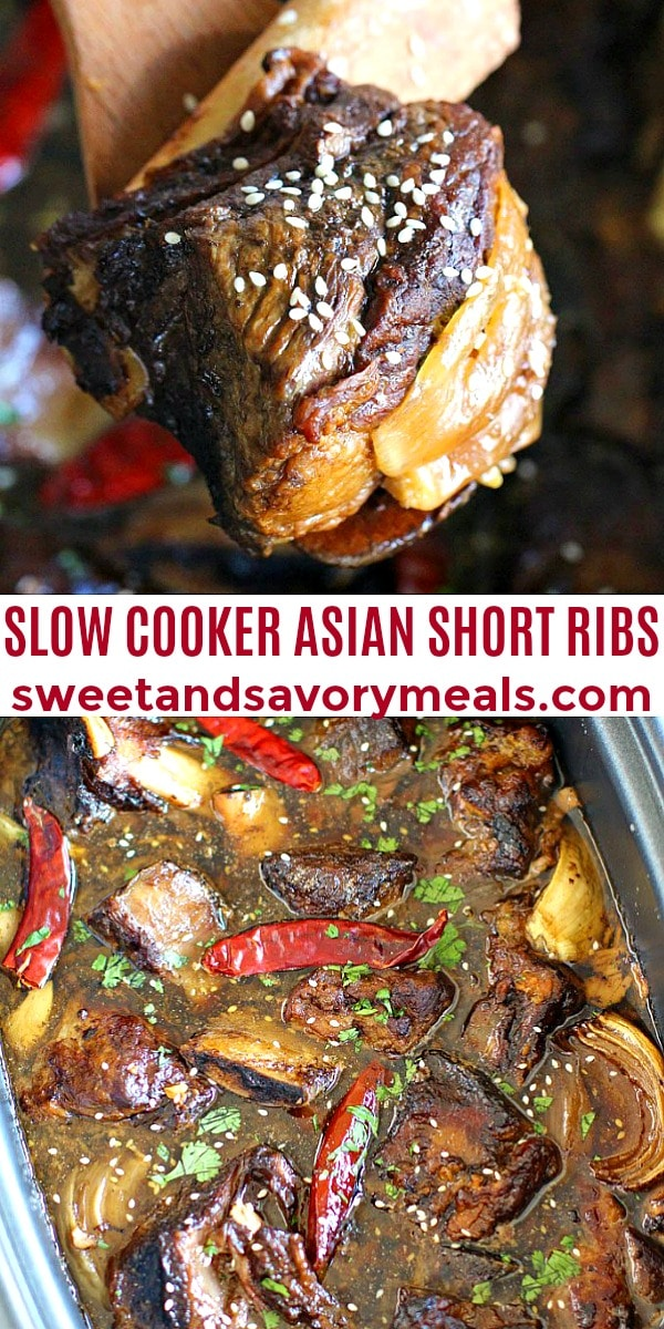 easy slow cooker asia short ribs pin