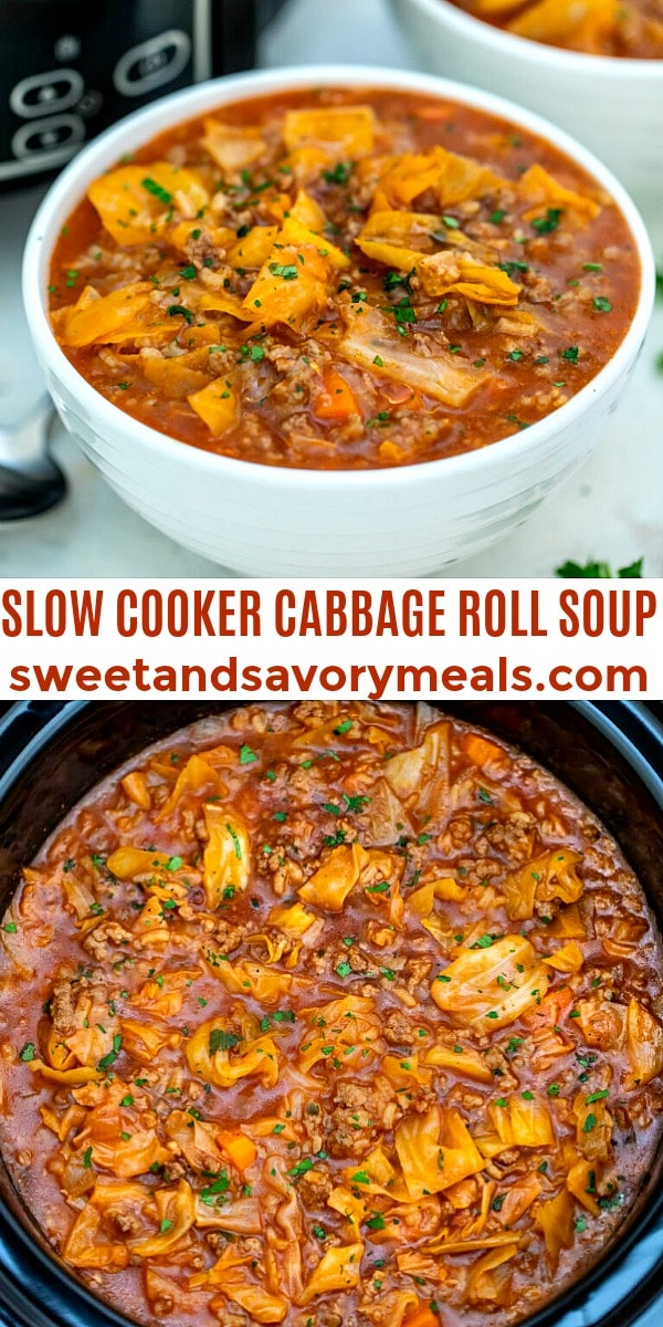 easy slow cooker cabbage roll soup pin