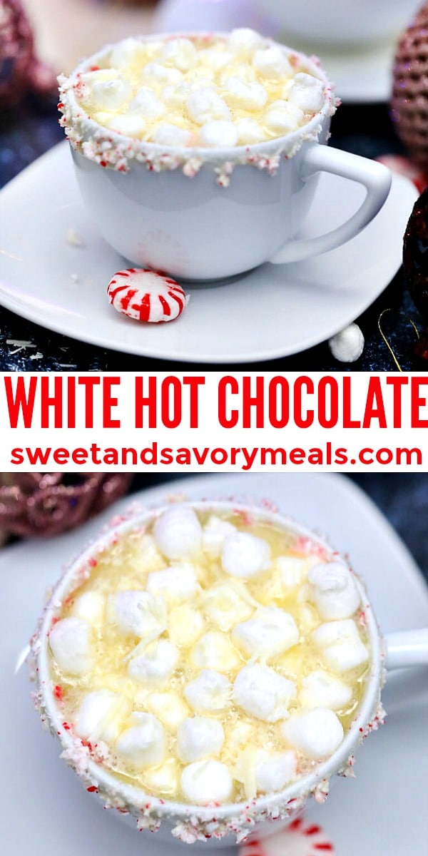 easy white hot chocolate pin