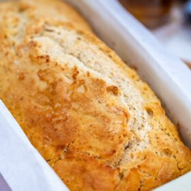 Beer Bread is a soft and flavorful bread that can be made with your favorite type of beer! With just a few ingredients, this recipe is foolproof! #beerbread #beerrecipes #breadrecipes #sweetandsavorymeals #stpatrickday