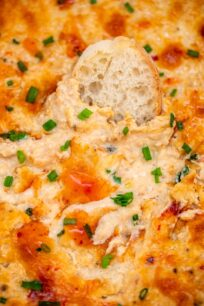 Crab Dip is cheesy, hearty, savory, and tasty! This easy recipe will make every party or game night even more exciting and your guests will love it for sure! #cheesedip #crabdip #dip #sweetandsavorymeals #partyfood #gamedayfood