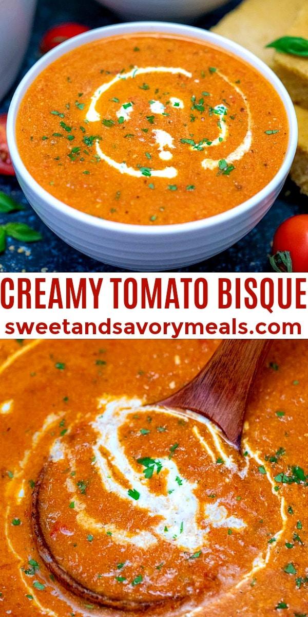 easy creamy tomato bisque pin
