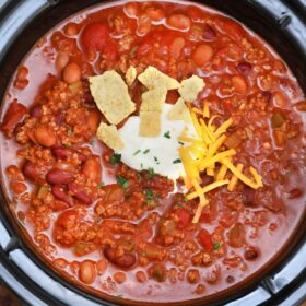 Slow Cooker Wendy's Chili Copycat