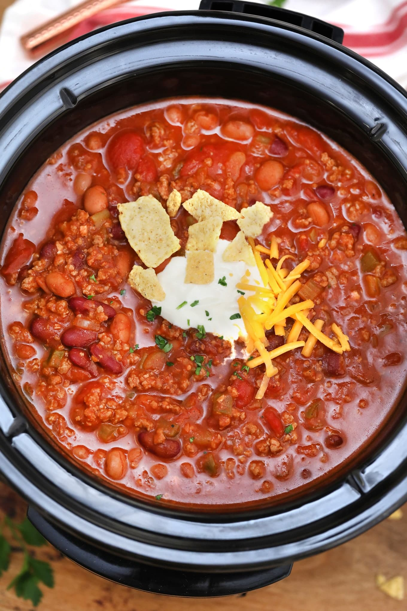 Slow Cooker Wendy S Chili Copycat Sweet And Savory Meals