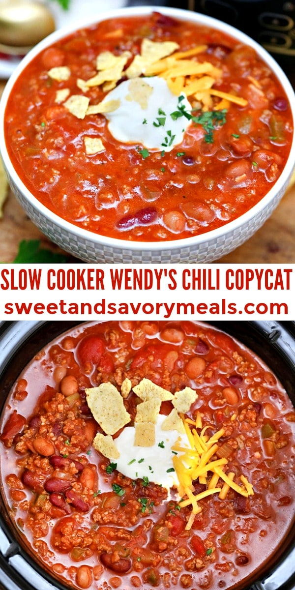 easy slow cooker wndy's chili copycat pin