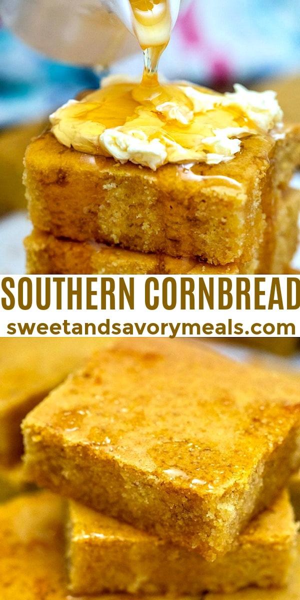 easy southern cornbread pin