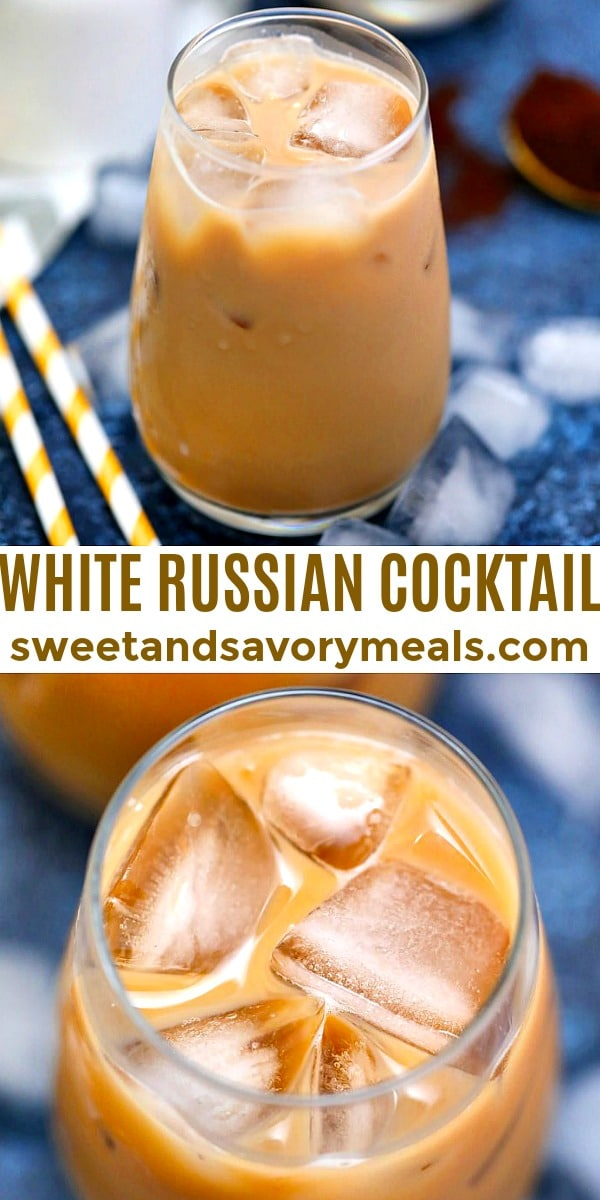 Image of White Russian cocktail.