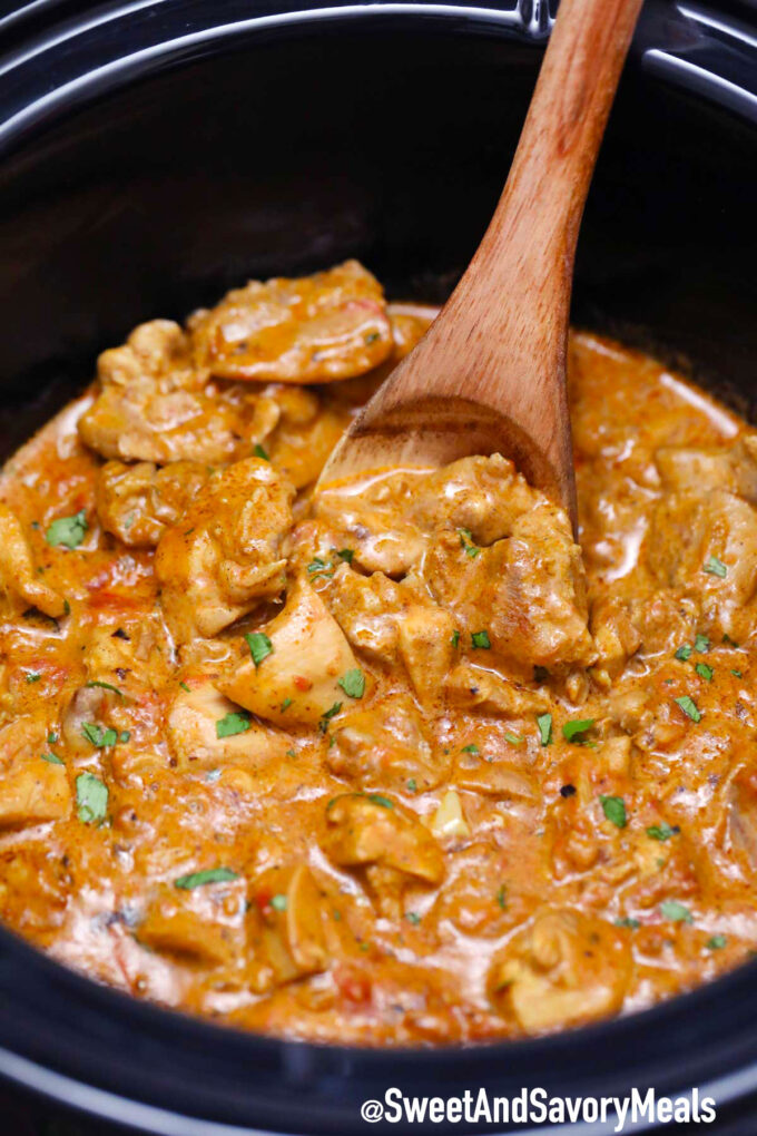 Image of slow cooker chicken tikka masala recipe.
