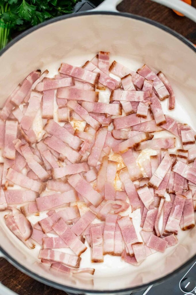 photo of lamb stew bacon prep