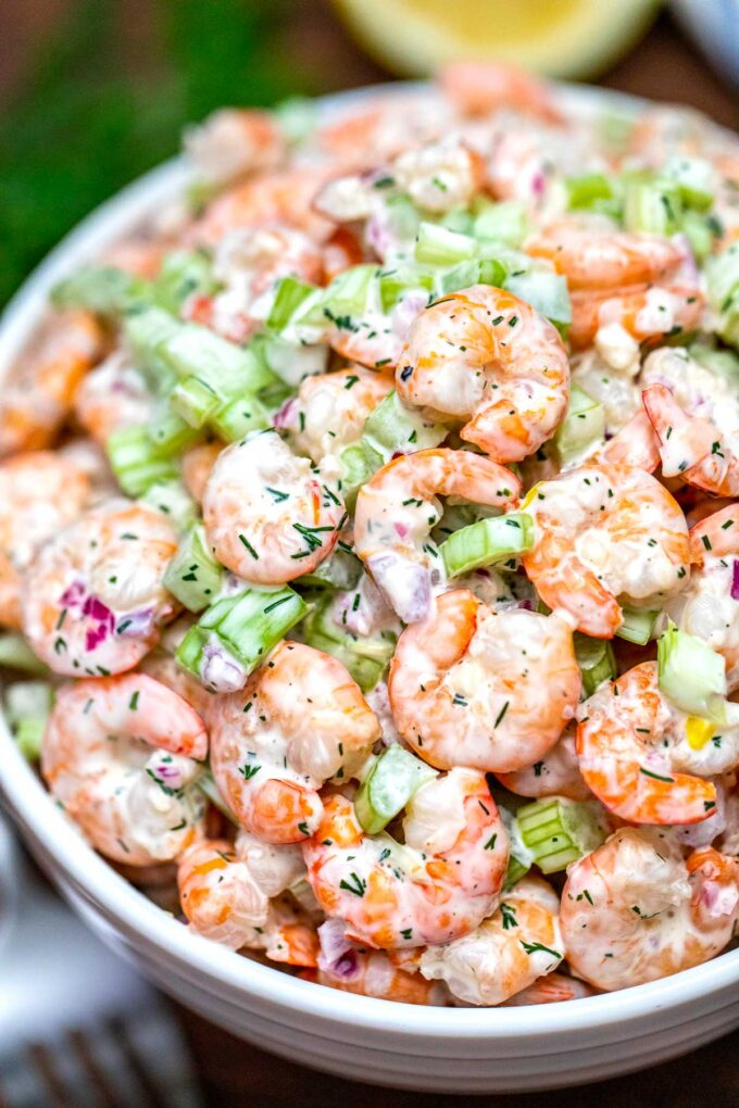 photo of shrimp salad