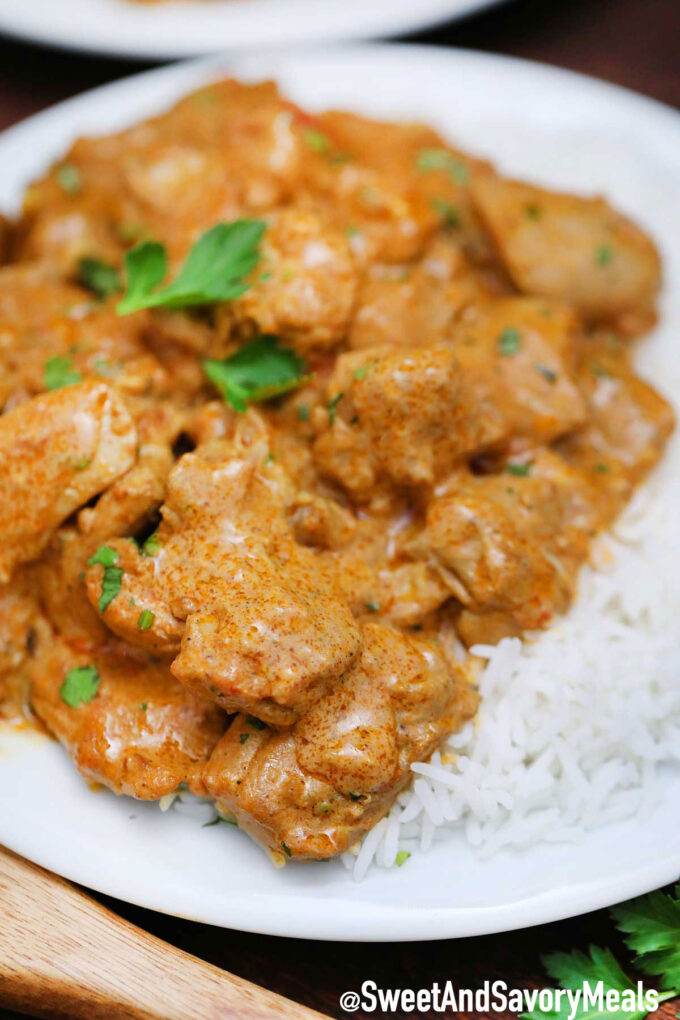 Image of crock pot chicken tikka masala.