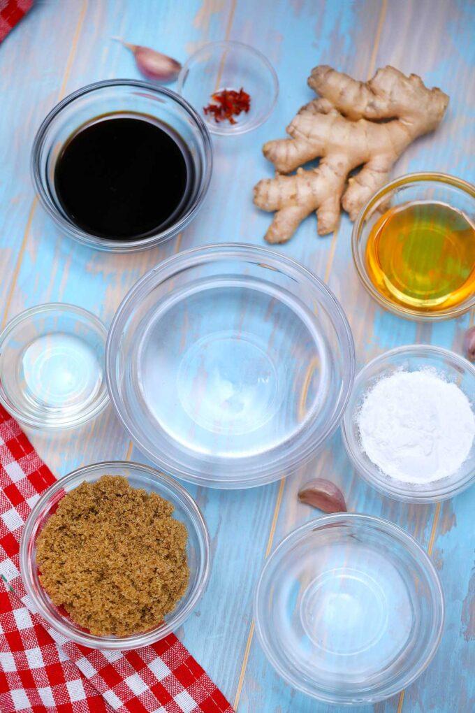 image of teriyaki sauce ingredients