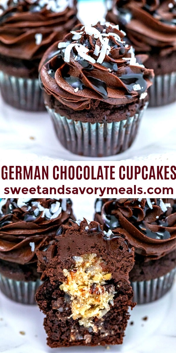 Photo of German Chocolate Cupcakes.