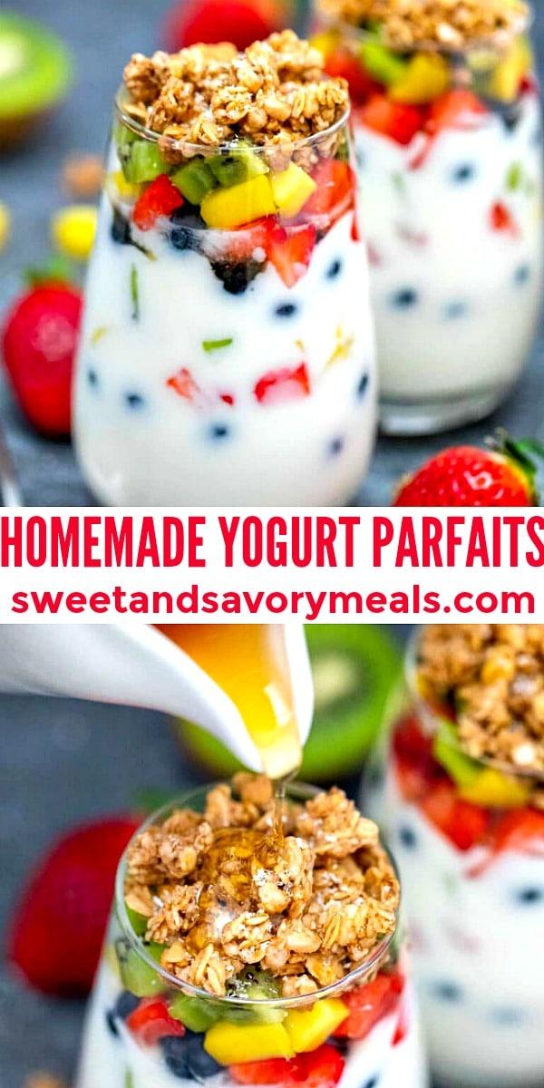Photo of Homemade Yogurt Parfaits.
