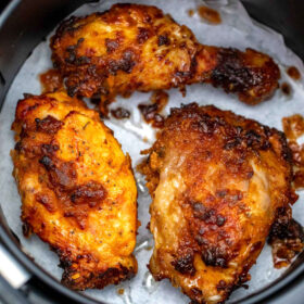 image of air fryer fried chicken