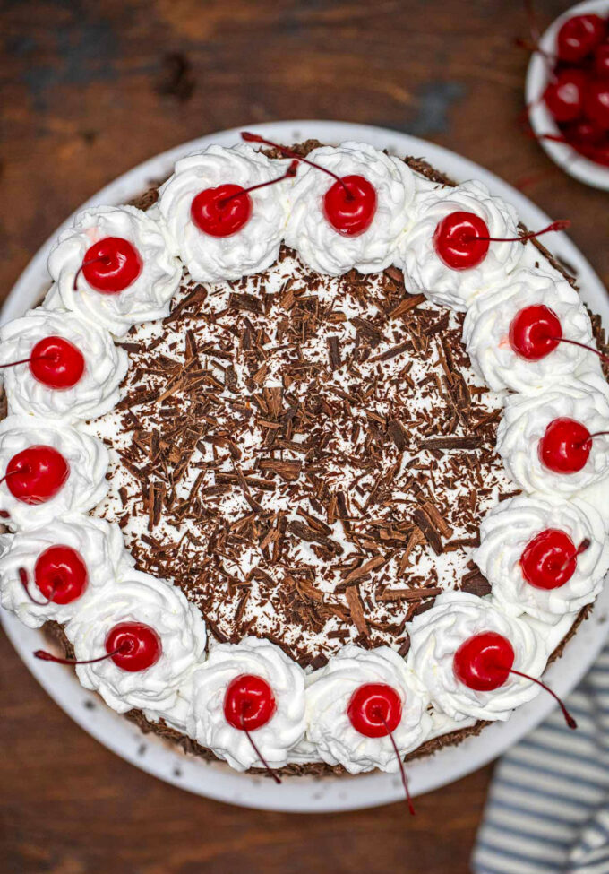 image of black forest cake top layer