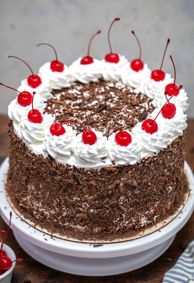 image of black forest cake
