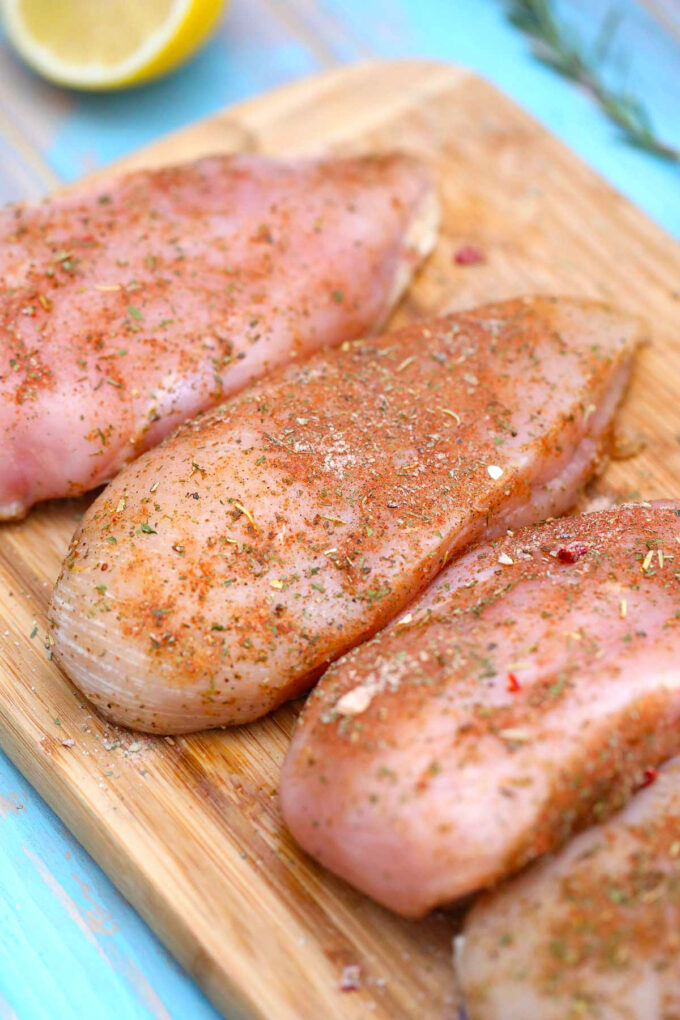 image of seasoned chicken breasts