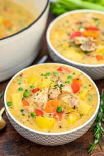 image of chicken stew in serving bowls