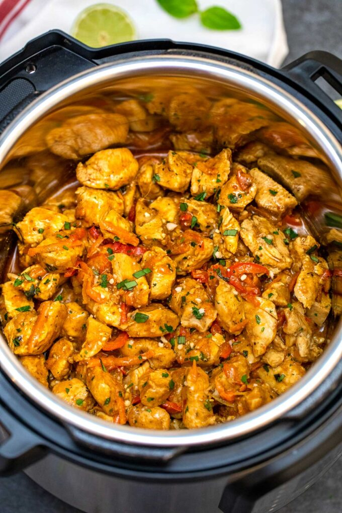 image of instant pot coconut curry chicken