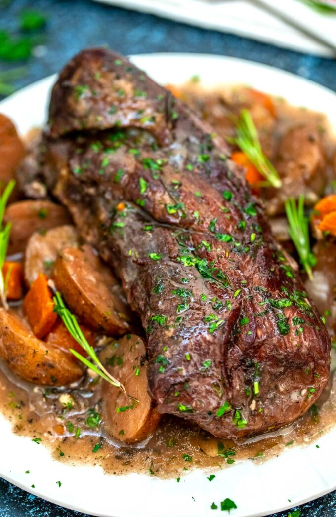 image of instant pot red wine beef roast