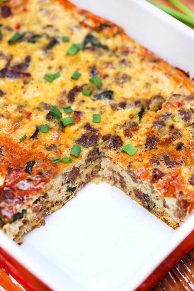 image of sausage breakfast casserole recipe